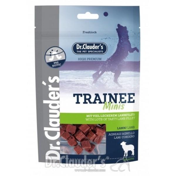 Dr. Clauder's Trainee MINIS - лакомство за кучета от агнешко филе за дребни породи 50 гр/pre biotik/