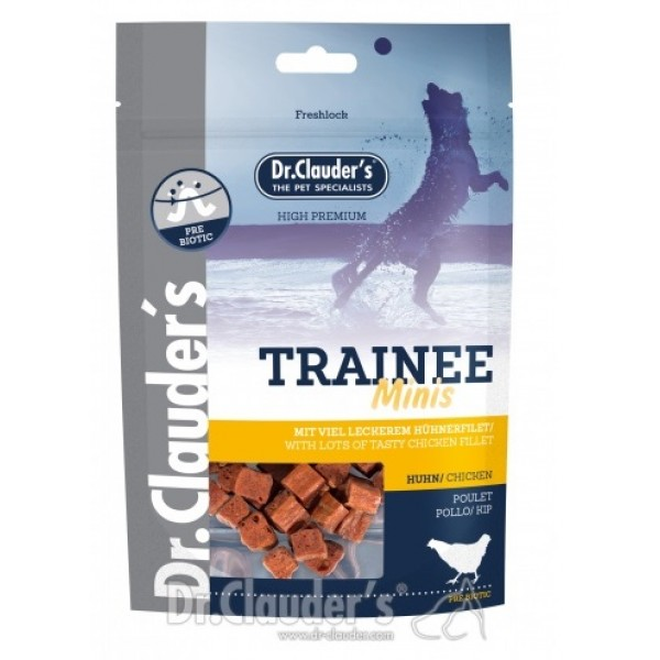 Dr. Clauder's Trainee MINIS - лакомство за кучета от пилешко филе за дребни породи 50 гр/pre biotik/