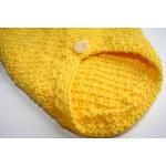 Плетена Дрешка с Качулка - Ръчно Изработена Жълта