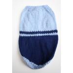 Малко Куче Плетена Дрешка - Ръчно Изработена Синя
