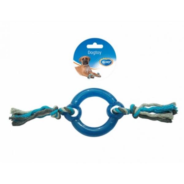Duvo играчка за кучета - гумен ринг с въже, 30 см
