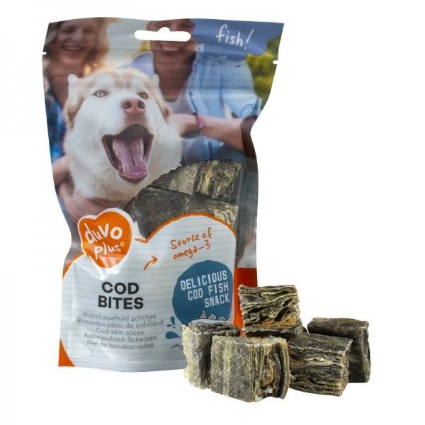 Duvo Cod Bites вкусни хапки от риба треска - лакомство за кучета, 80 гр