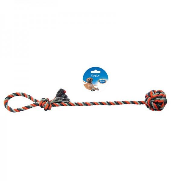 Duvo въже с топка за кучета 50 см