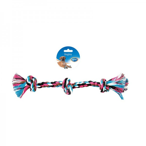 Duvo въже с три възела за кучета 38 см