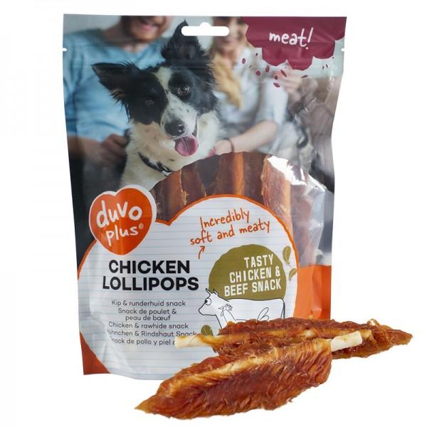 Duvo лакомство за кучета - солети телешка кожа с пилешко филе, 400 гр