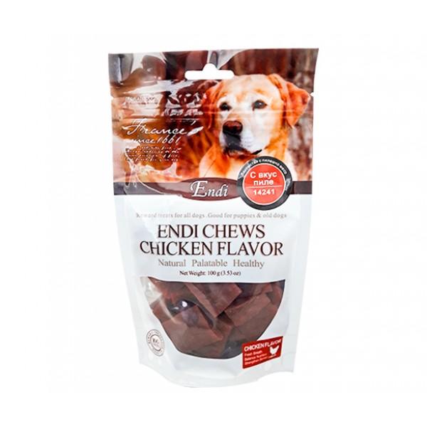 Endi Chews Chicken Flavor-Лакомство за куче с пилешко месо 100 гр.