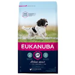 Eukanuba Active Adult Medium Breeds Еукануба Храна за Кучета от Средни Породи за Възрастни над 1 год.