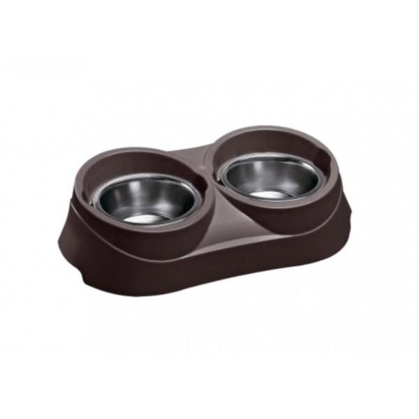 Ferplast DUO FEED GREY - поставка за купи за кучета и котки