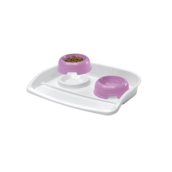 Ferplast MAXI LINDO - комплект купи за храна и вода с поставка