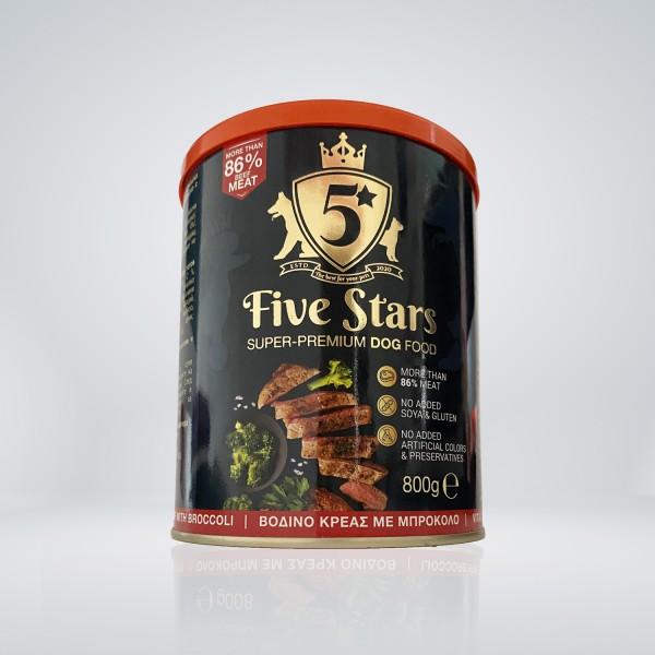 Five Stars Консерва за куче с телешко и броколи