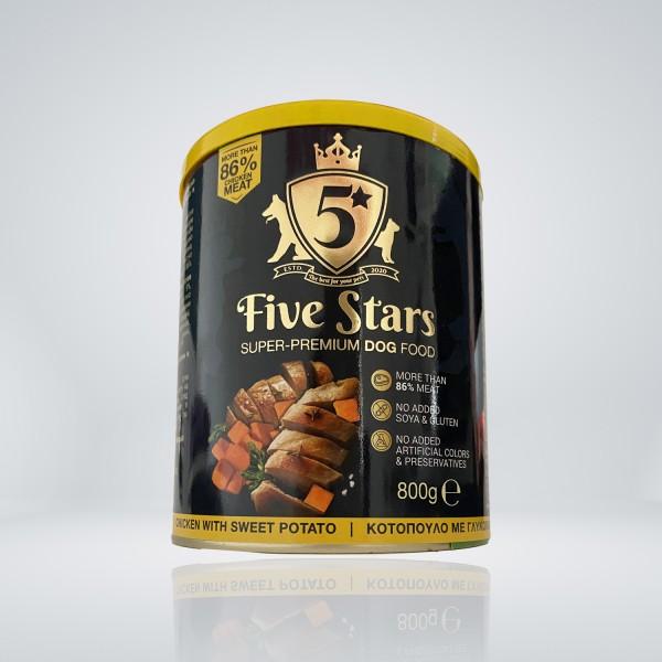 Five Stars Консерва за куче с пиле и сладък картоф