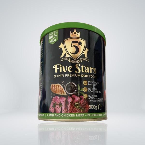 Five Stars Консерва за куче с агнешко, плодове и боровинки