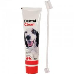 FLAMINGO комплект четка + паста за зъби за кучета