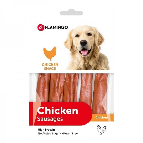 FLAMINGO лакомство CHICK'N SNACK наденички за кучета 85 гр