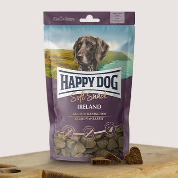 Happy Dog Soft Snack - Лакомство за кучета в различни вкусове 100 гр със сьомга и заек