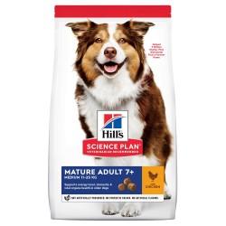 Hill's Science Plan Mature Adult Medium с пилешко - пълноценна храна за кучета в напреднала възраст от средните породи 11 до 25кг над 7 години - Промоция 10% отстъпка при покупка на 2бр. от вид 14 кг.