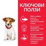 Hill's Science Plan Small&Mini Puppy с пилешко - Пълноценна суха храна за дребни и миниатюрни породи  кучета от отбиване до 1 година. За бременни и кърмещи кучета.