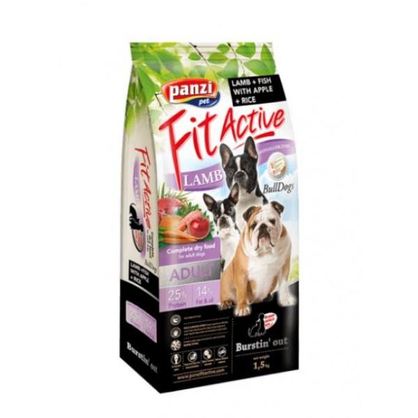 Julius-K9 FitActive Bulldogs - Хипоалергенна храна за булдози над 1 година с агнешко и риба