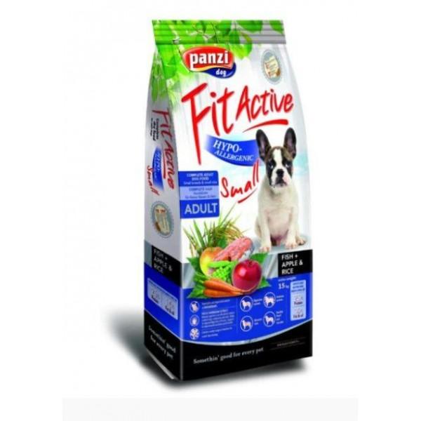 Julius-K9 FitActive Hypoallergenic Small - Суха храна за кучета от малки породи над 1 година с риба, ябълка и ориз