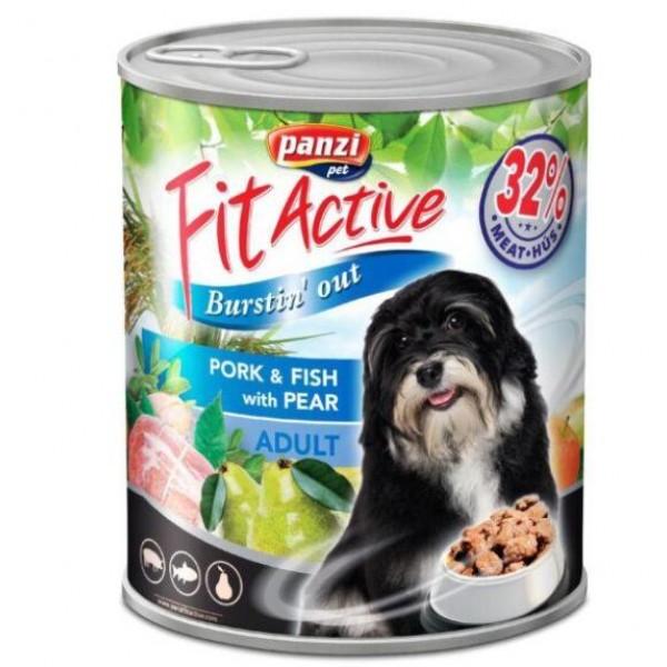 Julius-K9 FitActive - Консерва за кучета над 1 година със свинско и риба