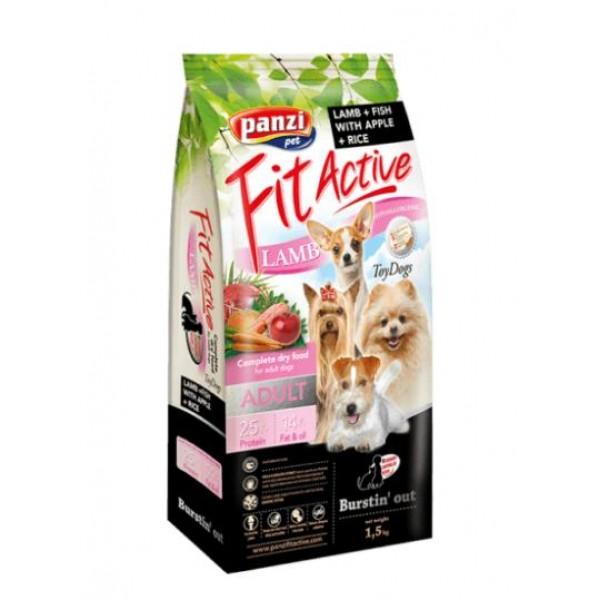 Julius-K9 FitActive Toy Breed - Хипоалергенна храна за възрастни кучета над 1 година от малки породи с агнешко и риба