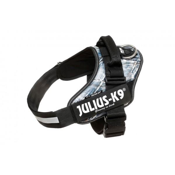 Julius K9 IDC Powerharness Десен Нагръдник от Изкуствена Кожа Дънков Десен за Кучета