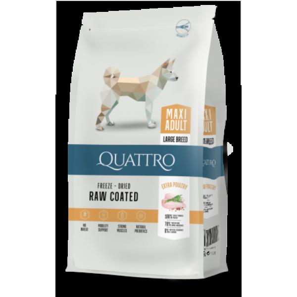 Quattro Maxi Adult Large Breed - пълноценна храна за кучета големи или гигантски породи 12 кг.
