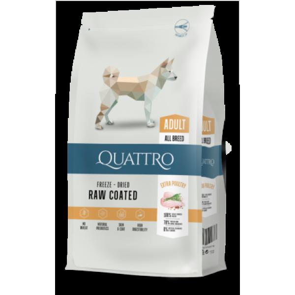 Quattro Adult All Breed - пълноценна храна, подходяща за всички породи кучета 12 кг.