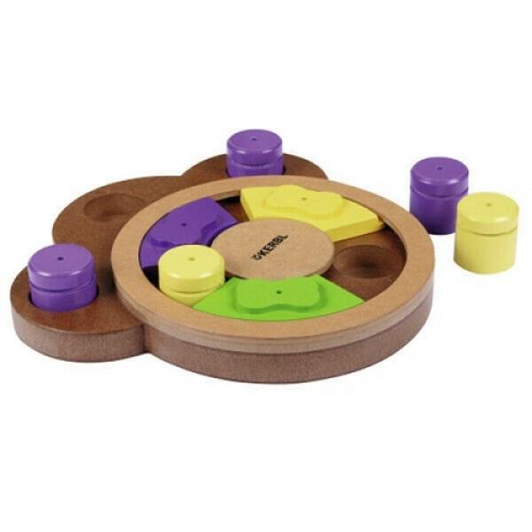 Kerbl Wooden Puzzle Interactive - Кербъл Интерактивна Играчка за Куче с Конуси и Бутони