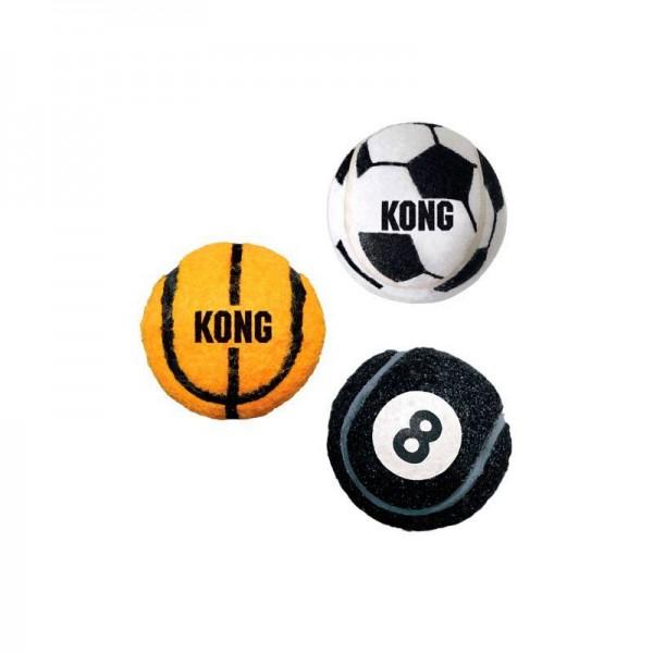 KONG SPORT BALLS - Конг играчки за кучета - спортни топки, 3бр