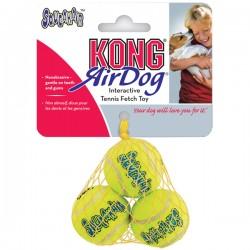 KONG Air Squeaker Balls 3 pack/2 pack - кучешка играчка тенис топка комплект