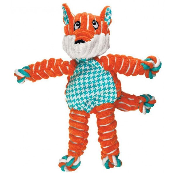 KONG FLOPPY KNOTS FOX S/M - играчка за кучета - лисица