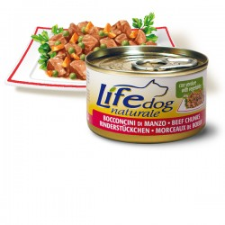Life Natural Lifedog Beef Chunks - с телешки хапки 90 грама