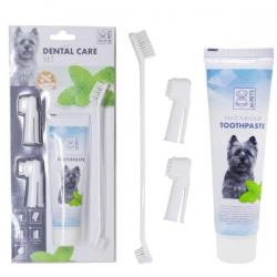 M-Pets Dental Care Set - М-петс комплект четки с паста за зъби за кучета