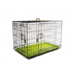 M-Pets Voyager Wire Crate 2 Doors Green - Метална, Сгъваема Клетка за Кучета със Зелено Дъно