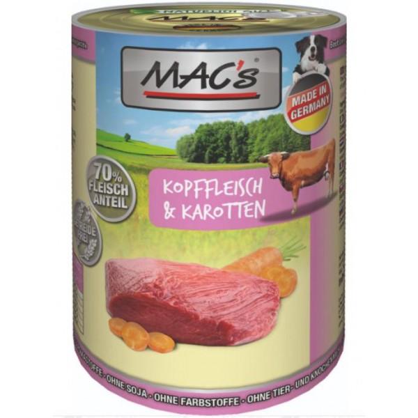 Mac's Beef & Carrots - консерва за кучета с говеждо и моркови