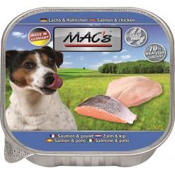Mac's - пастет за кучета със сьомга и пиле, 150гр