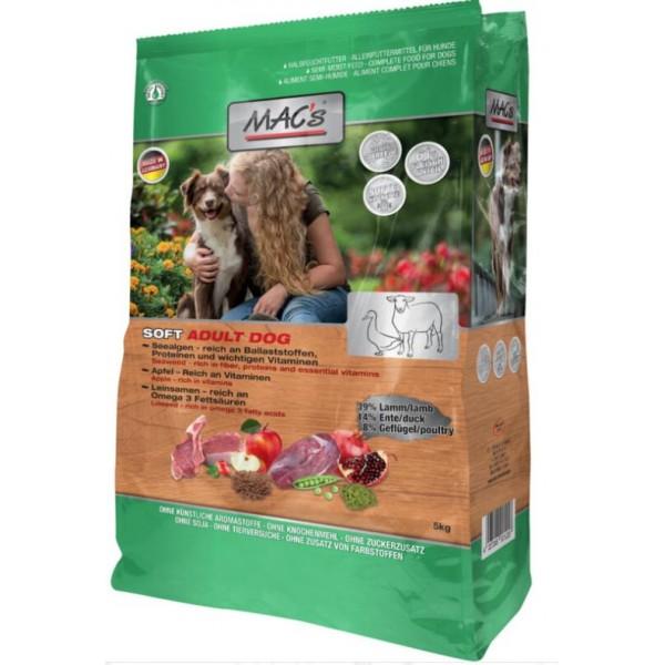 Mac's Soft - суха храна за кучета с агне, патица и пиле