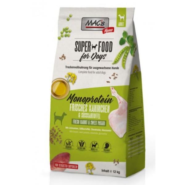 Mac's Soft - суха храна за кучета, склонни към алергии с монопротеин заек