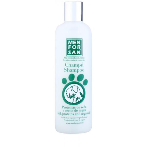 Menforsan - шампоан за кучета от коприва и арганово масло, за много мръсна, суха и повредена козина