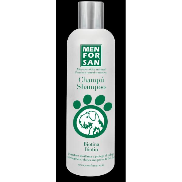 Menforsan  - шампоан за кучета с биотин за укрепване на тънката и чуплива козина