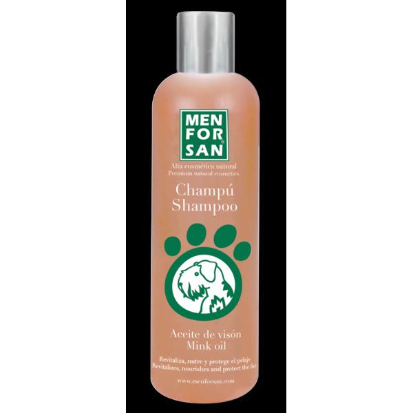 Menforsan - шампоан за кучета с масло от норка, за козина с червеникави нюанси