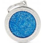 My Family - блестящ медальон със син кръг