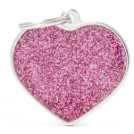 My Family - блестящ медальон във формата на розово сърце