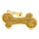 My Family - блестящ медальон във формата на златен кокал