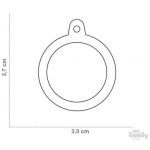 My Family - медальон във формата на алуминиев кръг с различни цветове
