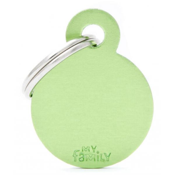 My Family - медальон във формата на алуминиев зелен кръг