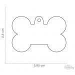 My Family - медальон във формата на светлосин алуминиев кокал