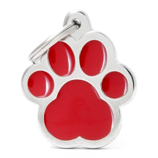 My Family - медальон във формата на голяма червена лапичка