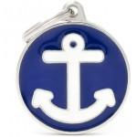 My Family - медальон във формата на син кръг с котва